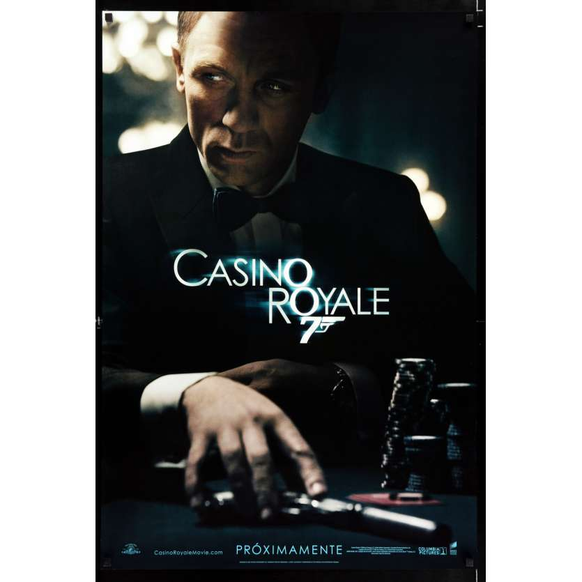CASINO ROYALE SpanUS teaser US Movie Poster 29x41 - 2006 - Martin Campbell, Daniel Craig