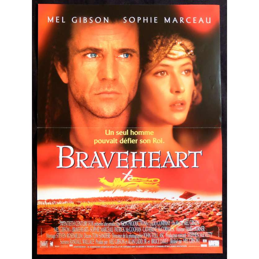 BRAVEHEART French Movie Poster 15x21 - 1995 - Mel Gibson, Patrick McGoohan