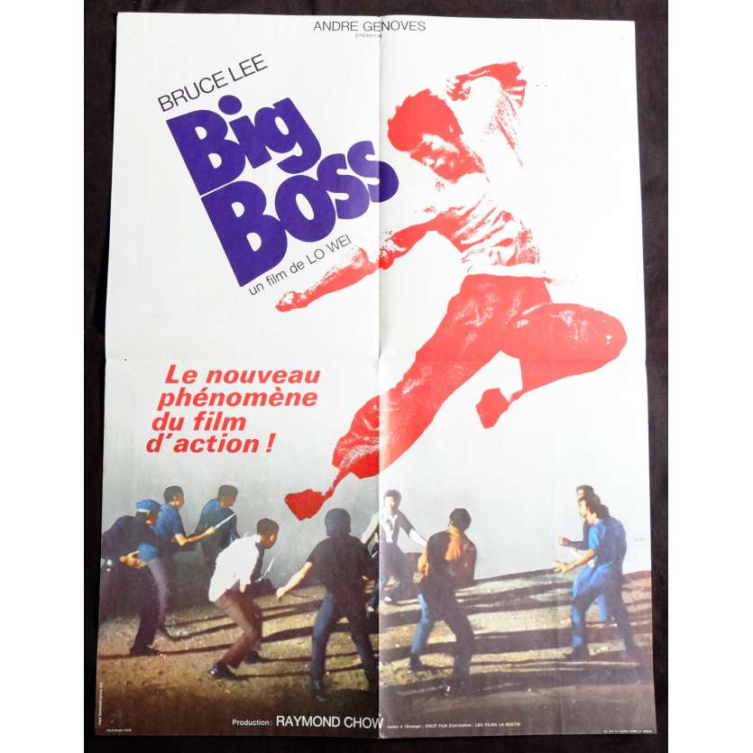 FISTS OF FURY French Movie Poster 23x32 - 1971 - Lo Wei, Bruce Lee