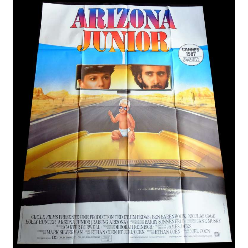 ARIZONA JUNIOR French Movie Poster 47x63 - 1987 - Joel Coen, Nicolas Cage