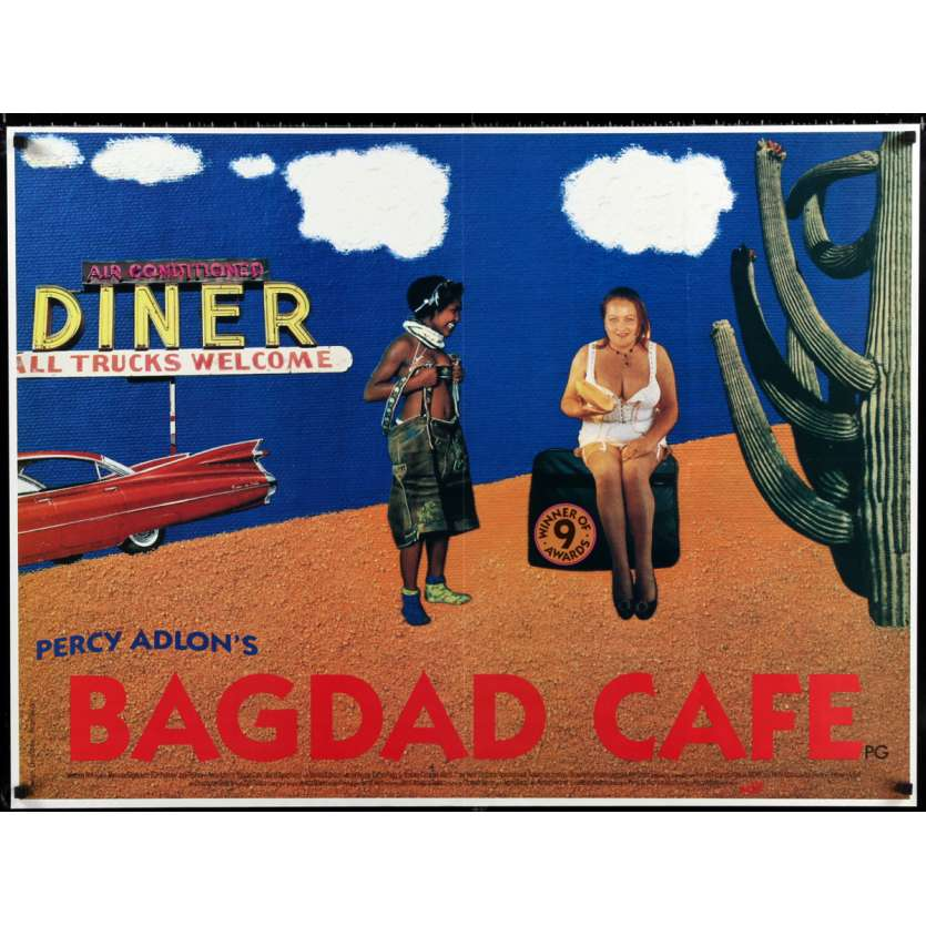 BAGDAD CAFE British Movie Poster 30x40 - 1988 - Percy Adlon, Marianne Sagebrecht