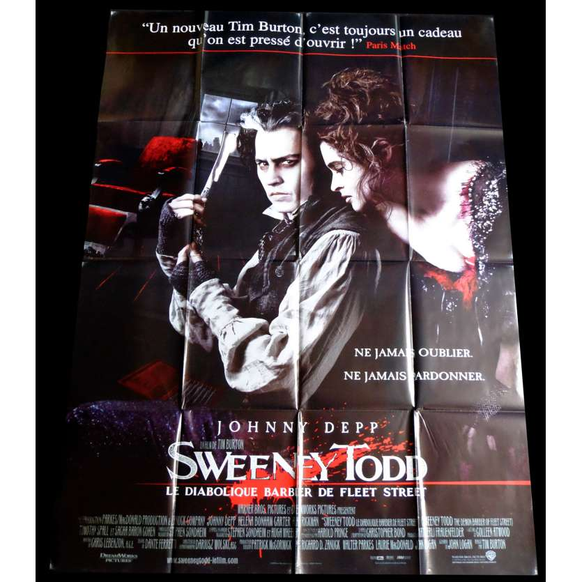 SWEENEY TODD French Movie Poster 47x63 - 2007 - Tim Burton, Johnny Depp