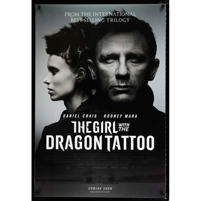 GIRL WITH THE DRAGON TATTOO int'l advance US Movie Poster 29x41 - 2011 - David Fincher, Daniel Craig
