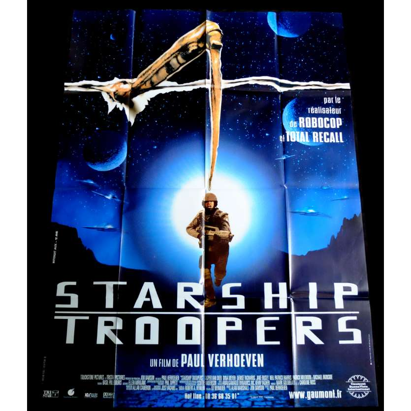 STARSHIP TROOPERS French Movie Poster 47x63 - 1997 - Paul Verhoeven, Denise Richard