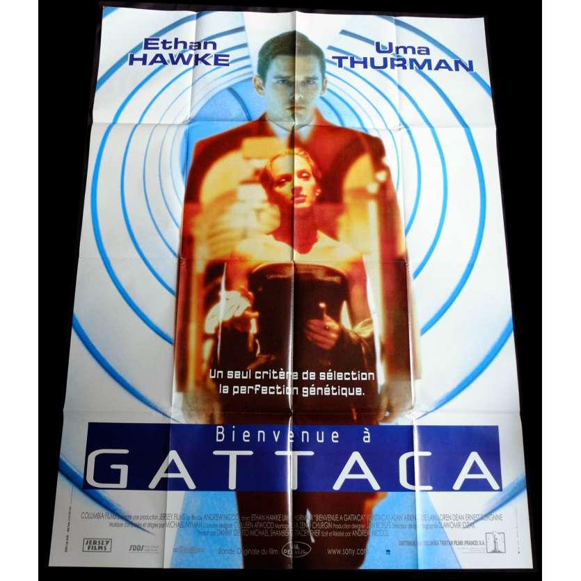 BIENVENUE A GATTACA Affiche de film 120x160 - 1997 - Ethan Hawke, Andrew Niccol