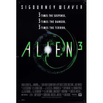 ALIEN 3 US Movie Poster 29x41 - 1992 - David Fincher, Sigourney Weaver