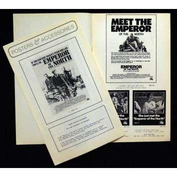 EMPEROR OF THE NORTH POLE pressbook '73 Lee Marvin, Ernest Borgnine, Robert Aldrich