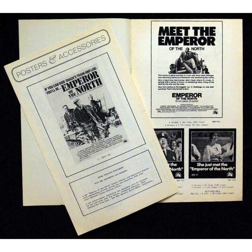 EMPEROR OF THE NORTH POLE pressbook '73 Lee Marvin, Ernest Borgnine, Robert Aldrich