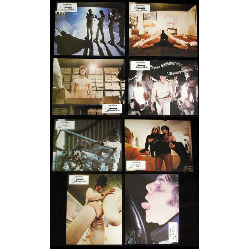 CLOCKWORK ORANGE Rare Lobby Card Set - R82 - Stanley Kubrick