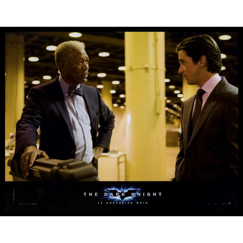 BATMAN THE DARK KNIGHT French Lobby Card N5 9x12 - 2008 - Christopher Nolan, Heath Ledger