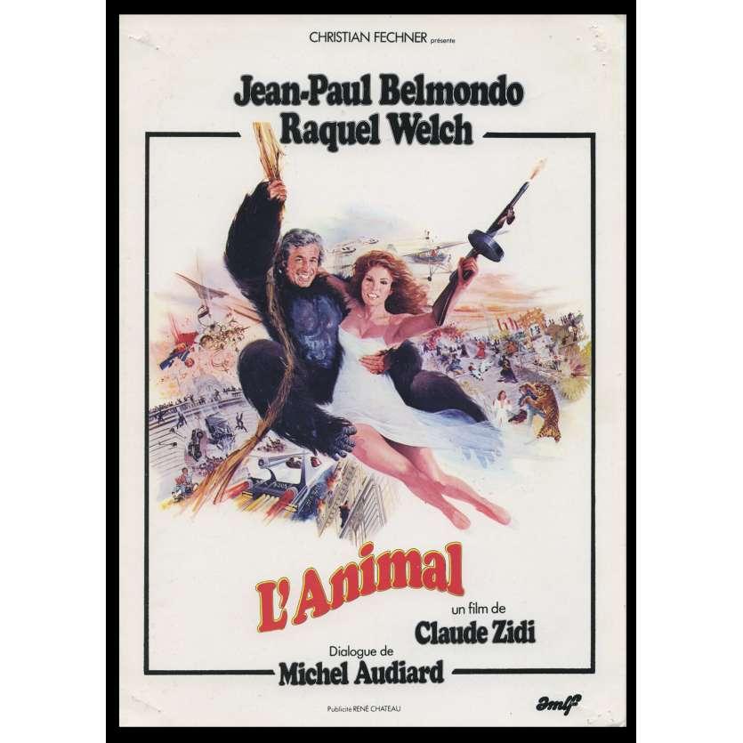 L'ANIMAL Synopsis du film 6p 18x26 - 1977 - Jean-Paul Belmondo, Claude Zidi