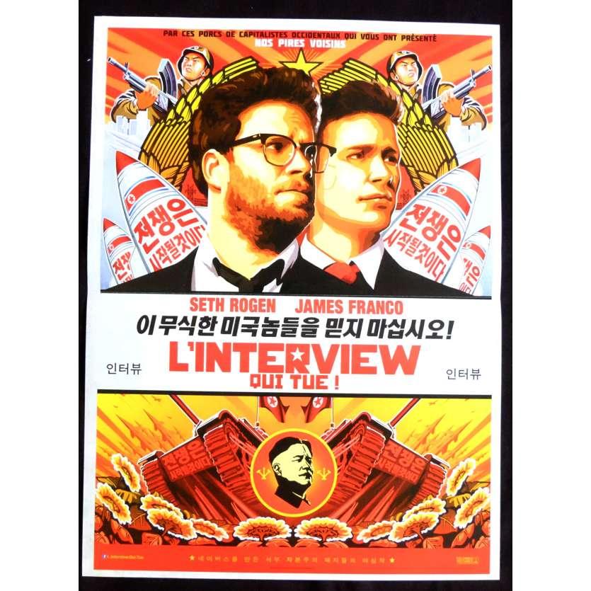 L'INTERVIEW QUI TUE Affiche de film 40x60 - 2015 - James Franco, Seth Roger