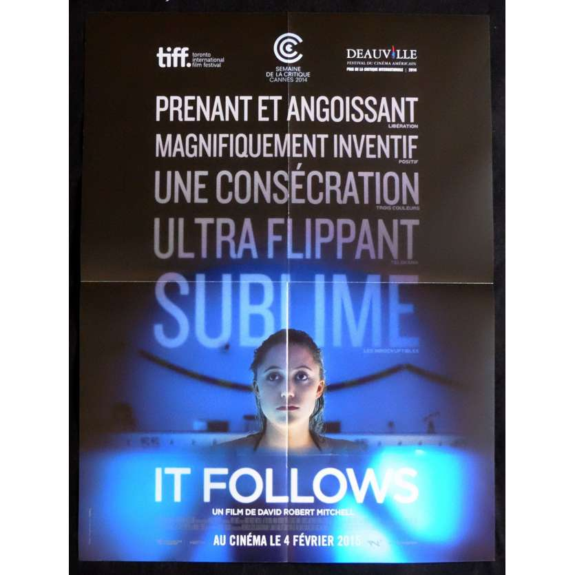 IT FOLLOWS French Movie Poster 15x21 - 2014 - David Robert Mitchell, Maika Monroe