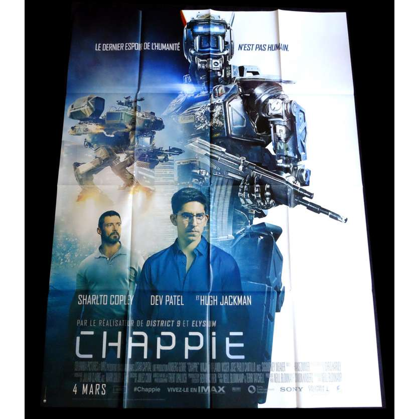 CHAPPIE French Movie Poster 47x63 - 2015 - Neill Blomkamp, Hugh Jackman