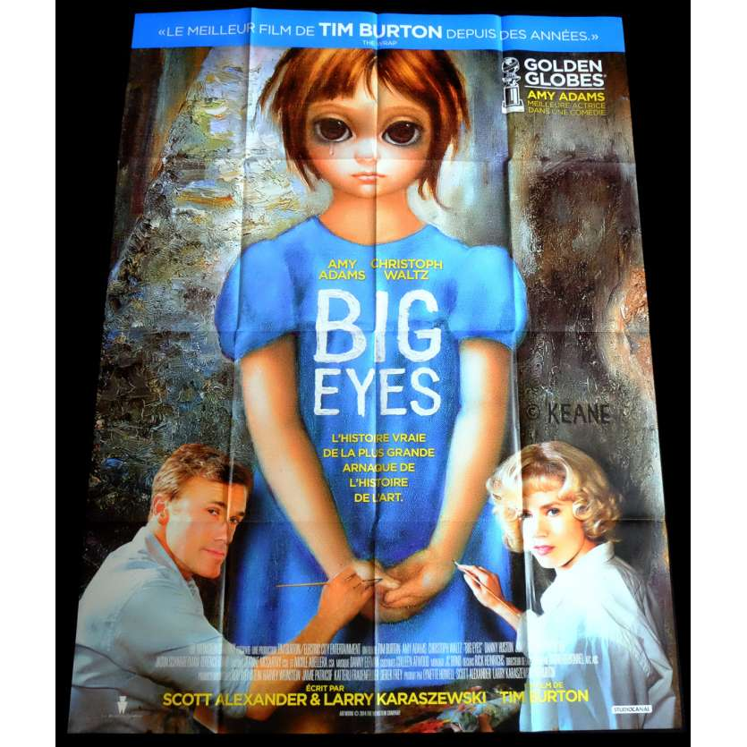BIG EYES Affiche de film 120x160 - 2015 - Amy Adams, Tim Burton