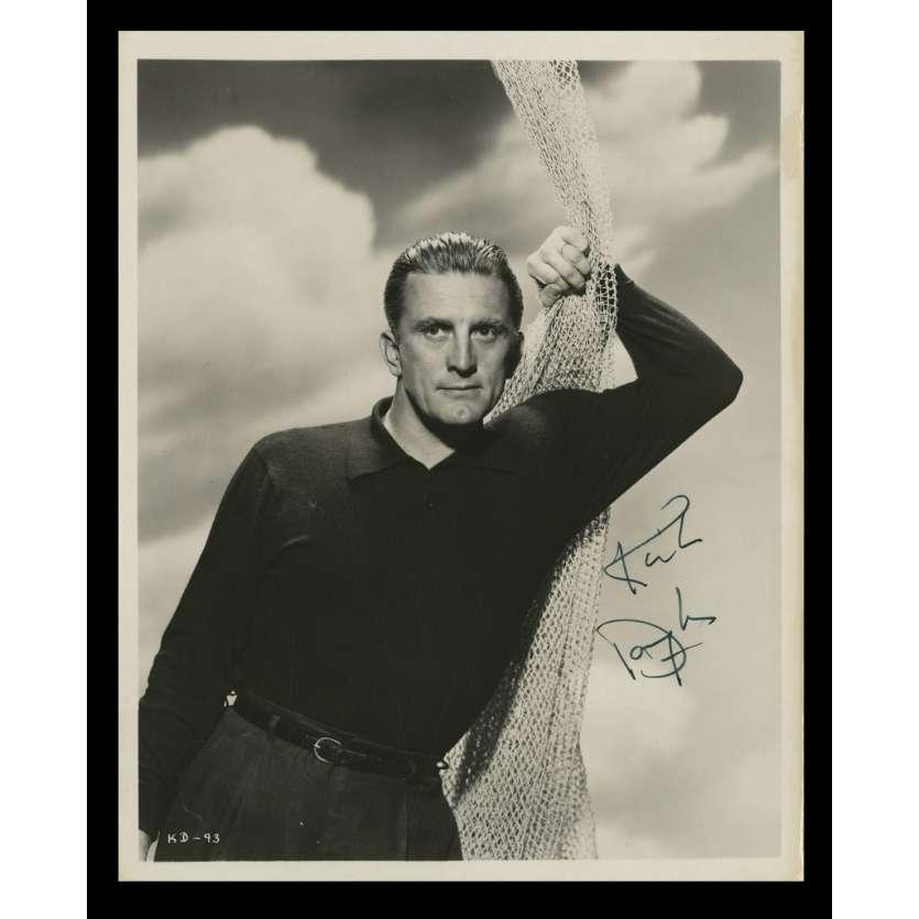 KIRK DOUGLAS Photo Prestige Signée 20x25 - 1950