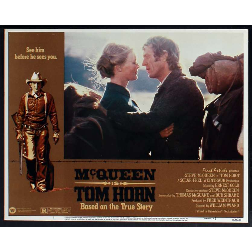 TOM HORN US Lobby Card N1 11x14 - 1980 - William Wiard, Steve McQueen