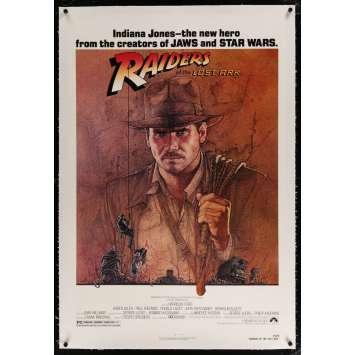 LES AVENTURIERS DE L'ARCHE PERDUE Affiche de film entoilée 69x104 - 1981 - Harrison Ford, Steven Spielberg