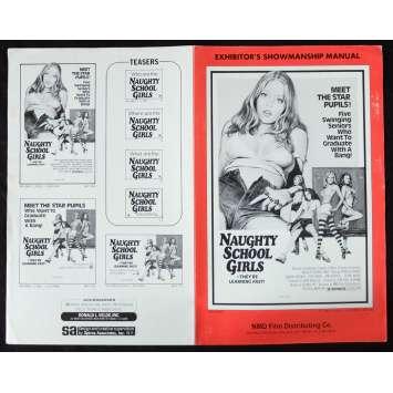NAUGHTY SCHOOL GIRLS US Pressbook 11x17 - 1975 - Jean-Paul Scardino, Mary Mendum