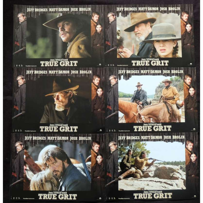 TRUE GRIT French Lobby Cards 9x12 - 2010 - Ethan Coen, Jeff Bridges