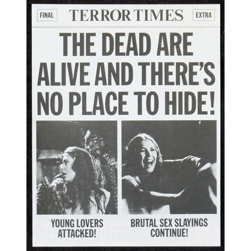 THE DEAD ARE ALIVE US Pressbook 11x17 - 1972 - Armando Crispino, Samantha Eggar