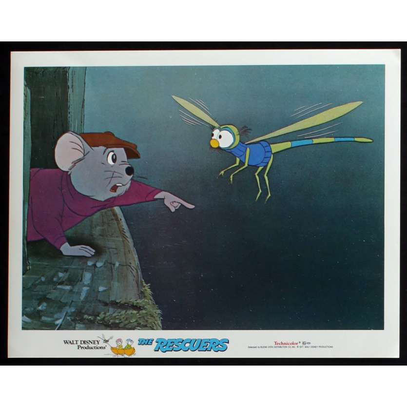 BERNARD ET BIANCA Photo de film N1 28x36 - 1977 - Eva Gabor, Walt Disney