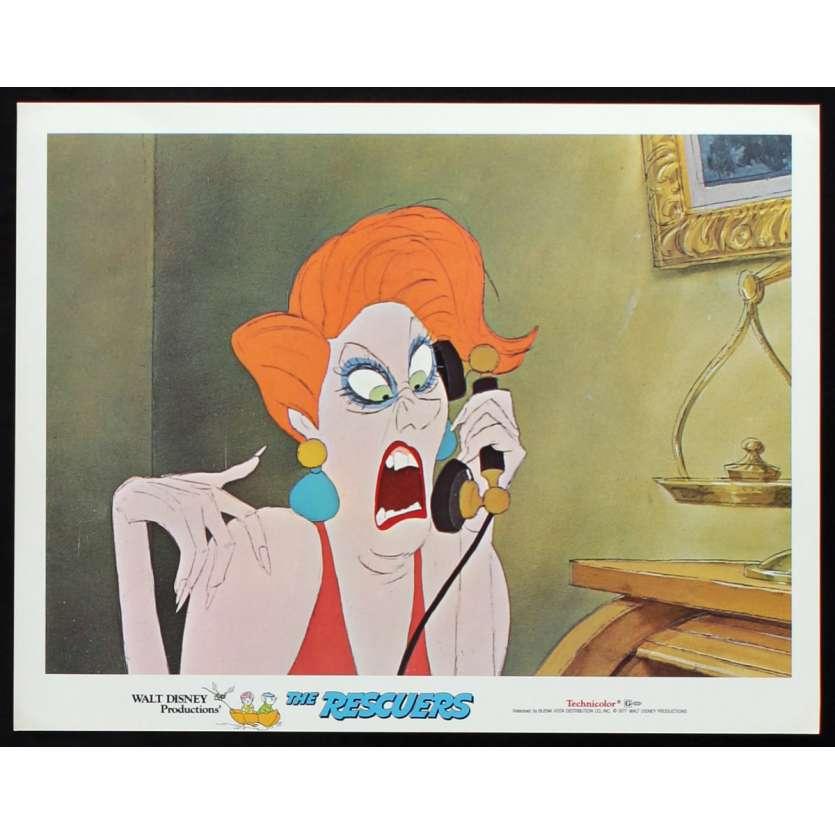 RESCUERS US Lobby Card N2 11x14 - 1977 - Walt Disney, Eva Gabor