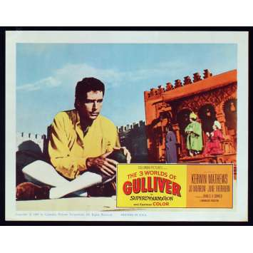 3 WORLDS OF GULLIVER US Lobby Card N8 11x14 - 1960 - Ray Harryhausen, Kerwin Mathews