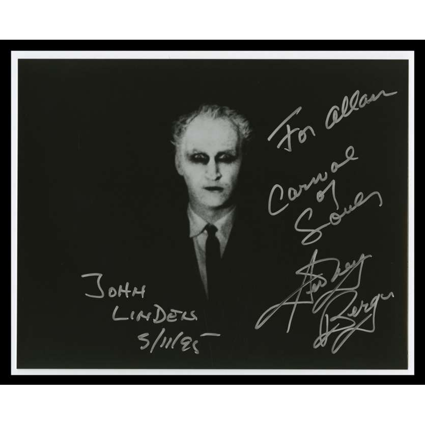 CARNIVAL OF SOULS Photo Signée par Sidney Berger - 20x25 - 1995