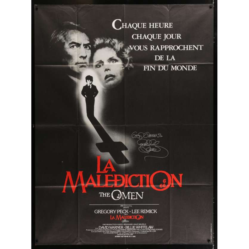 DAMIEN LA MALEDICTION Affiche signée par Richard Donner - 120x160 - 1976
