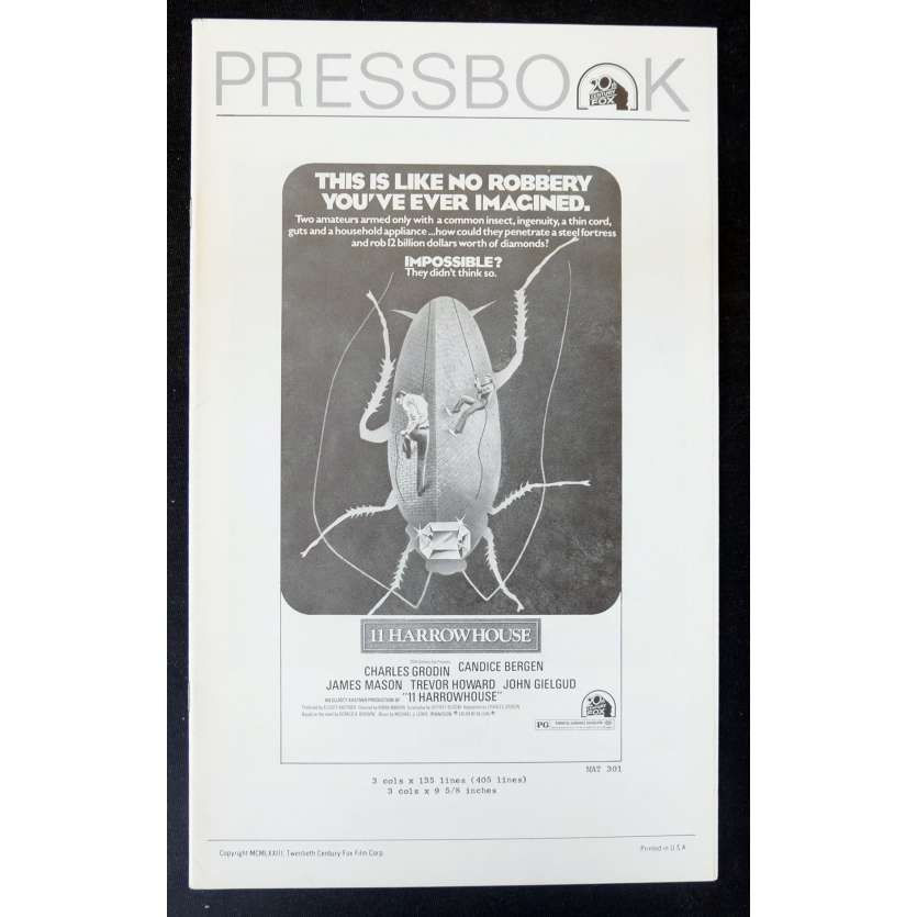 FRIC FRAC RUE DES DIAMS Dossier de presse 28x43 - 1974 - Candice Bergen, Aram Avakian