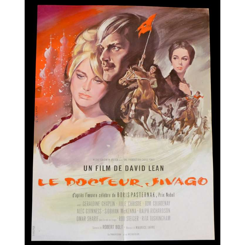 DOCTEUR JIVAGO Affiche de film 60x80 - 1965 - Omar Sharif, David Lean