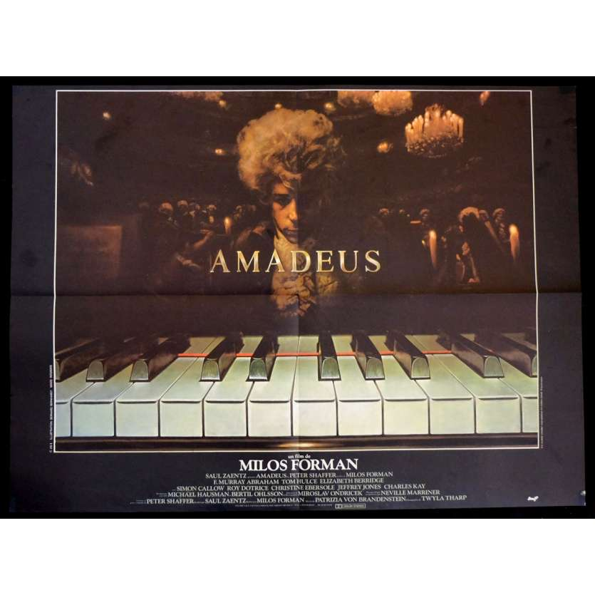 AMADEUS French Movie Poster 23x32 - 1984 - Milos Forman, F. Murrray Abraham