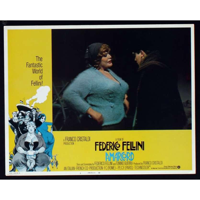 AMARCORD US Lobby Card N8 11x14 - 1974 - Federico Fellini, Magali Noel