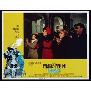 AMARCORD US Lobby Card N6 11x14 - 1974 - Federico Fellini, Magali Noel