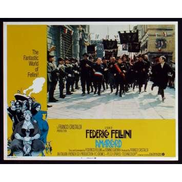 AMARCORD US Lobby Card N3 11x14 - 1974 - Federico Fellini, Magali Noel