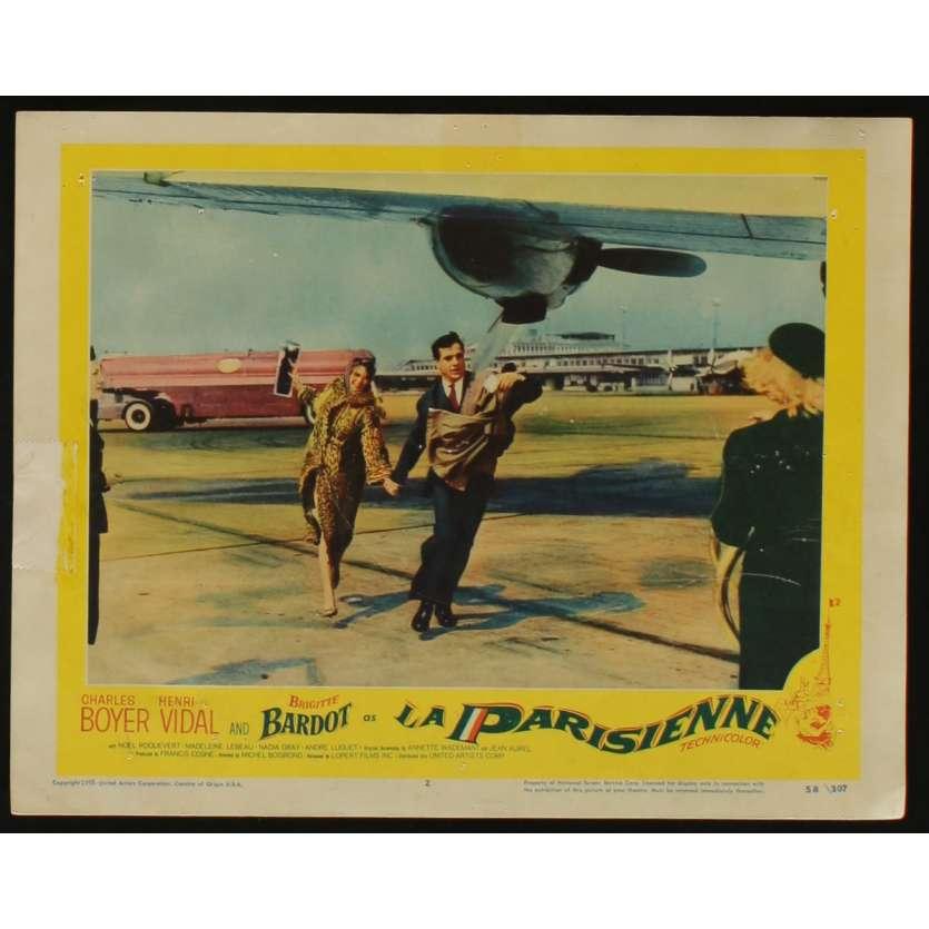 LA PARISIENNE US Lobby Card N4 11x14 - 1958 - Michel Boisrond, Brigitte Bardot