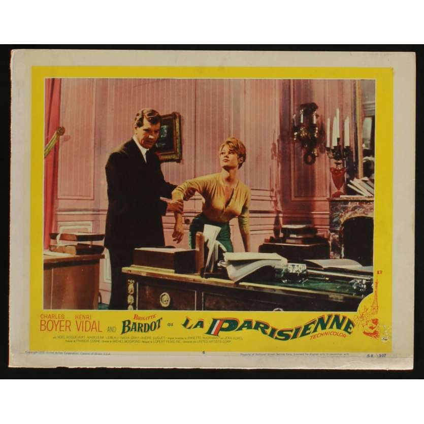 LA PARISIENNE US Lobby Card N3 11x14 - 1958 - Michel Boisrond, Brigitte Bardot