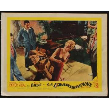 LA PARISIENNE US Lobby Card N2 11x14 - 1958 - Michel Boisrond, Brigitte Bardot