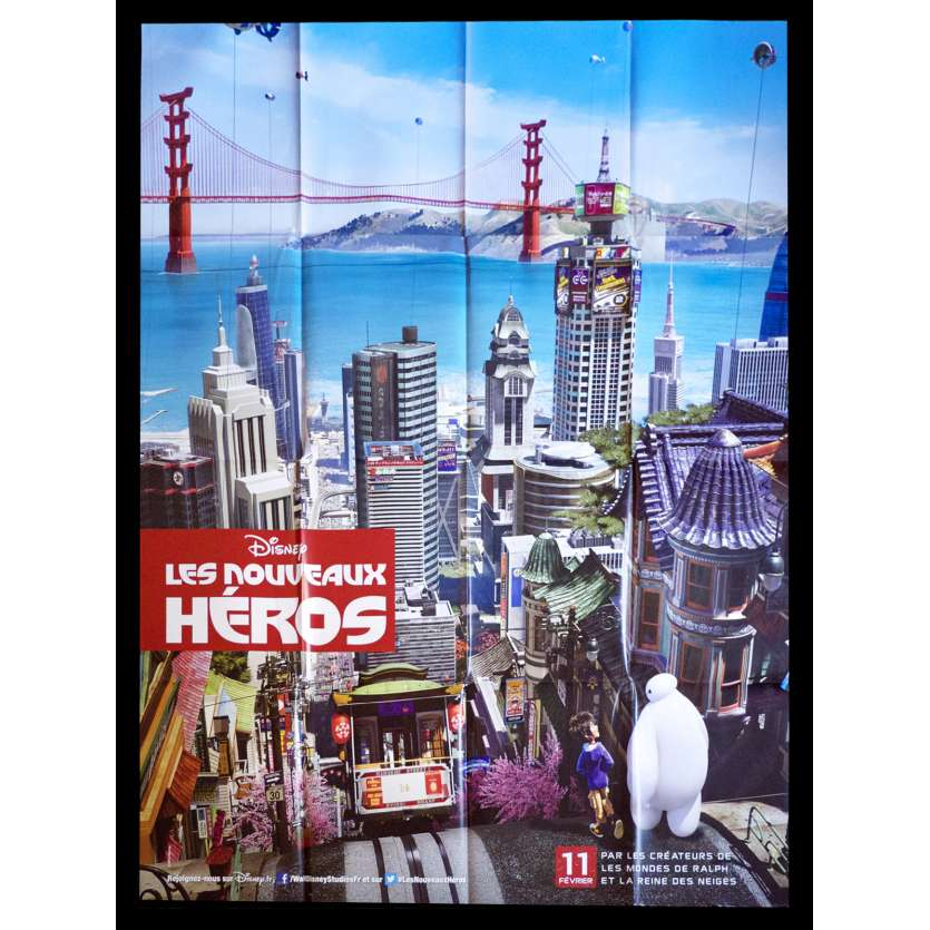 BIG HERO 6 Adv. A French Movie Poster 47x63 - 2015 - Pixar, Ryan Potter