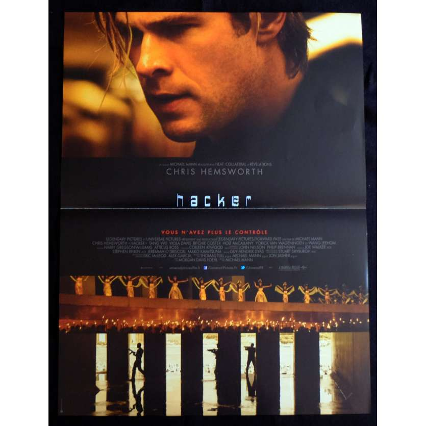 BLACKHAT French Movie Poster 15x21 - 2015 - Michael Mann, Chris Hemsworth