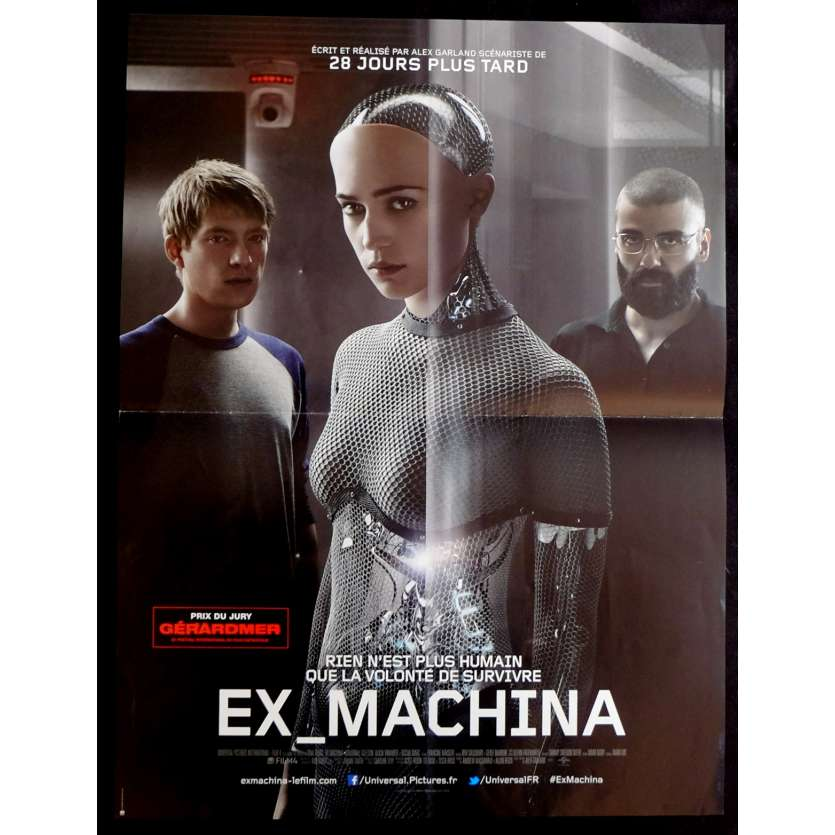 EX MACHINA Affiche de Film 40x60 - 2015 - Alicia Vikander, Alex Garland