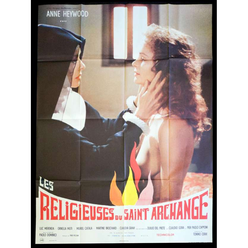 THE NUN AND THE DEVIL French Movie Poster 47x63 - 1973 - Paolo Dominici, Anne Heywood