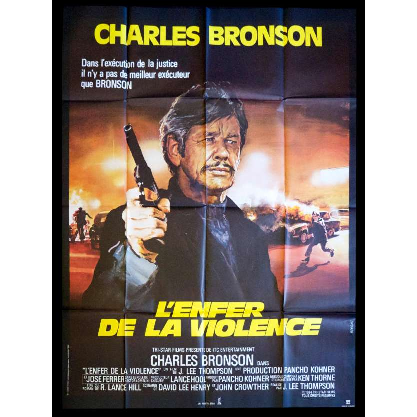 L'ENFER DE LA VIOLENCE Affiche de film 120x160 - 1984 - Charles Bronson, J. Lee Thompson