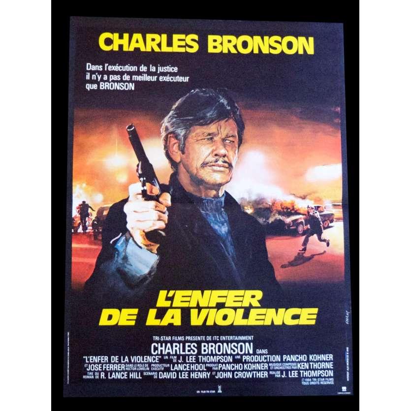 L'ENFER DE LA VIOLENCE Affiche de film 40x60 - 1984 - Charles Bronson, J. Lee Thompson