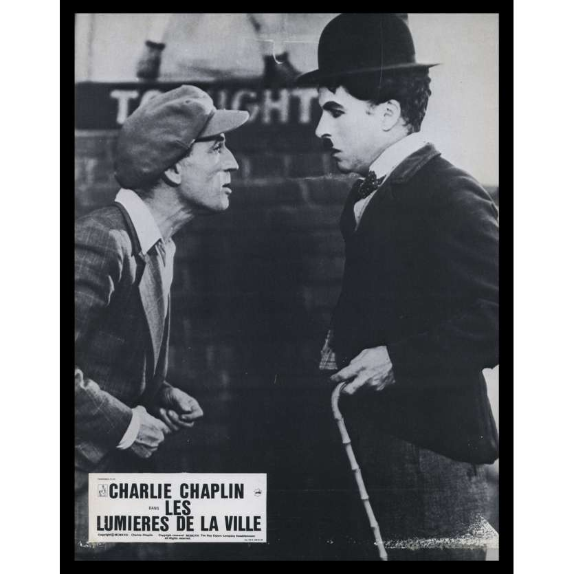 CITY LIGHTS French Lobby Card N12 9x12 - R1978 - Charlie Chaplin, Virginia Cherill