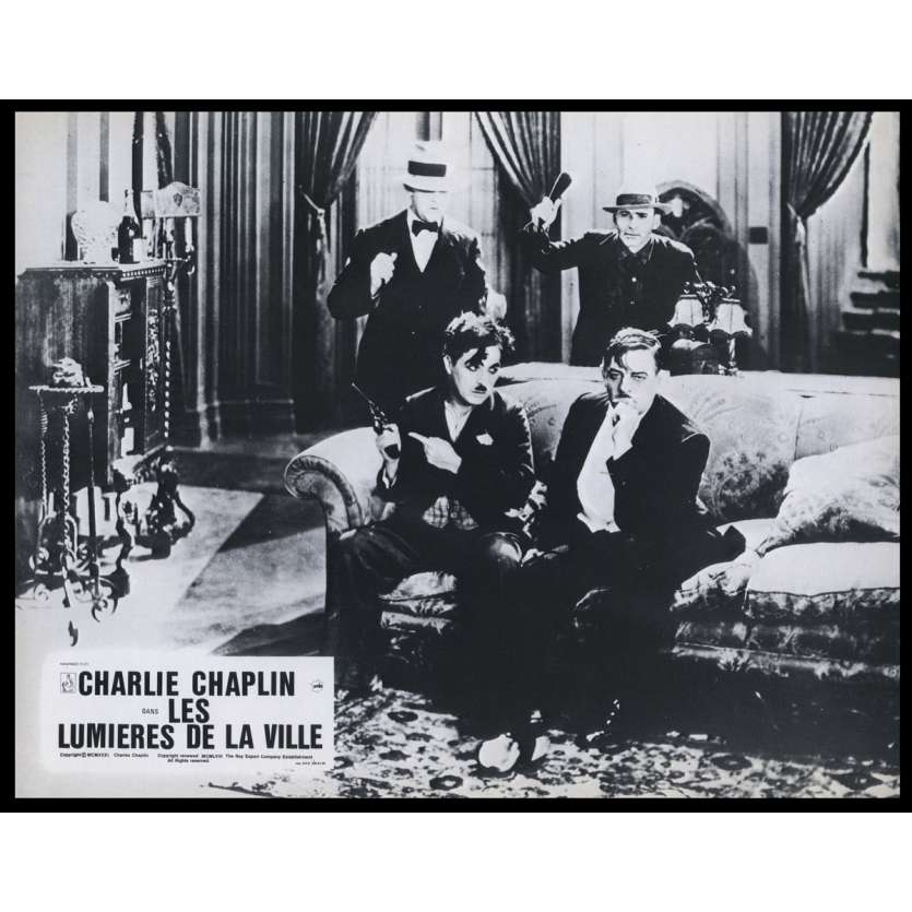 CITY LIGHTS French Lobby Card N3 9x12 - R1969 - Charlie Chaplin, Virginia Cherill