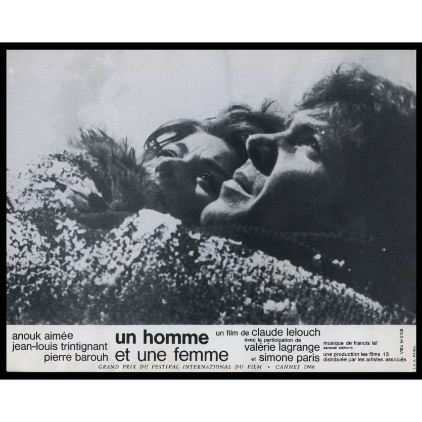 A MAN AND A WOMAN French Lobby Card N1 9x12 - 1966 - Claude Lelouch, Anouk Aymée