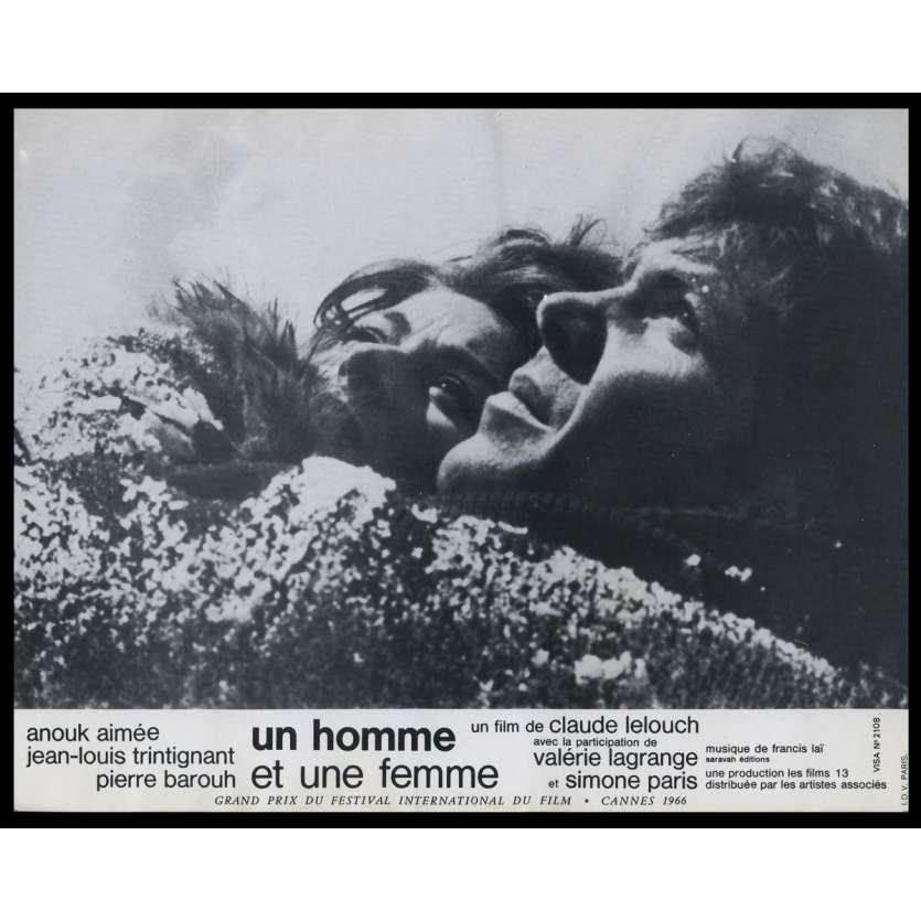 UN HOMME ET UNE FEMME Photo de film N1 21x30 - 1966 - Anouk Aymée, Claude Lelouch