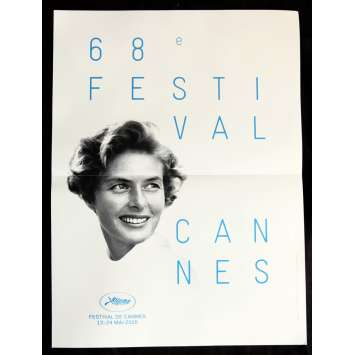 FESTIVAL DE CANNES 2015 Original Movie Poster, 15x21 Ingrid Bergman, Folded